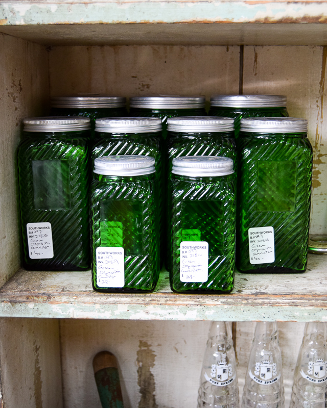 Green Depression Glass Canisters - Assorted Sizes