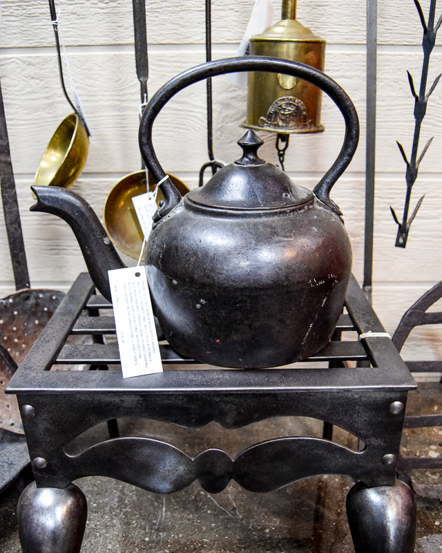 1800s Cast Iron Hearth Kettle