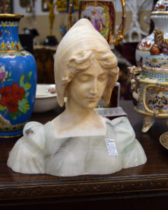 Alabster & Marble Bust of Girl