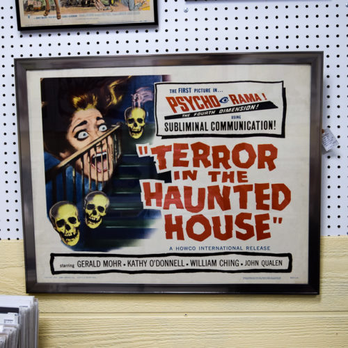 1959 Terror in the haunted house movie poster