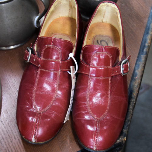Italian Vintage Red Girls Shoes