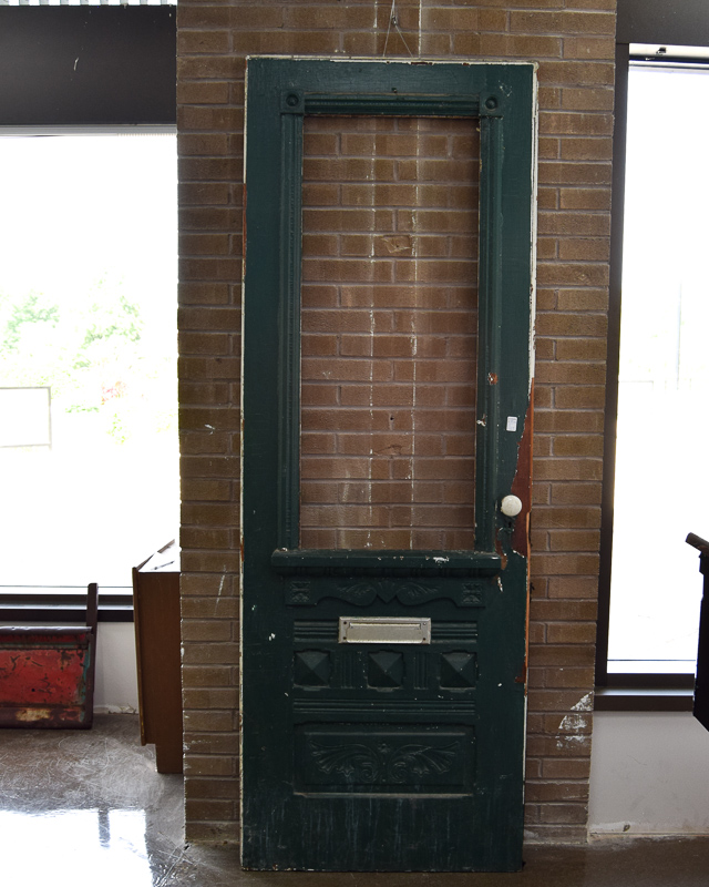 Victorian Door Green Overpaint