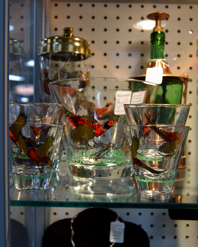 Pheasant Glass Cocktail Set
