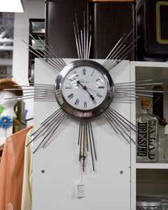 1950s Chrome Atomic Star Wall Clock