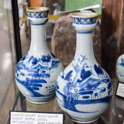 Chinese Export Guglet Bottle Vases