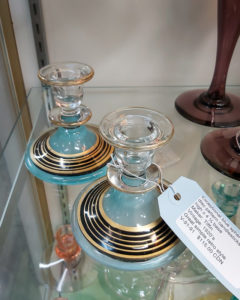 "1920s Tiffin 8"" Candlesticks (Pair)"
