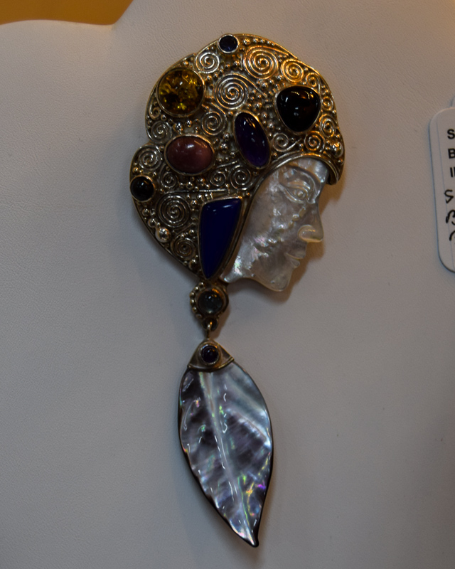 Silver and Gem Brooch by Sajan